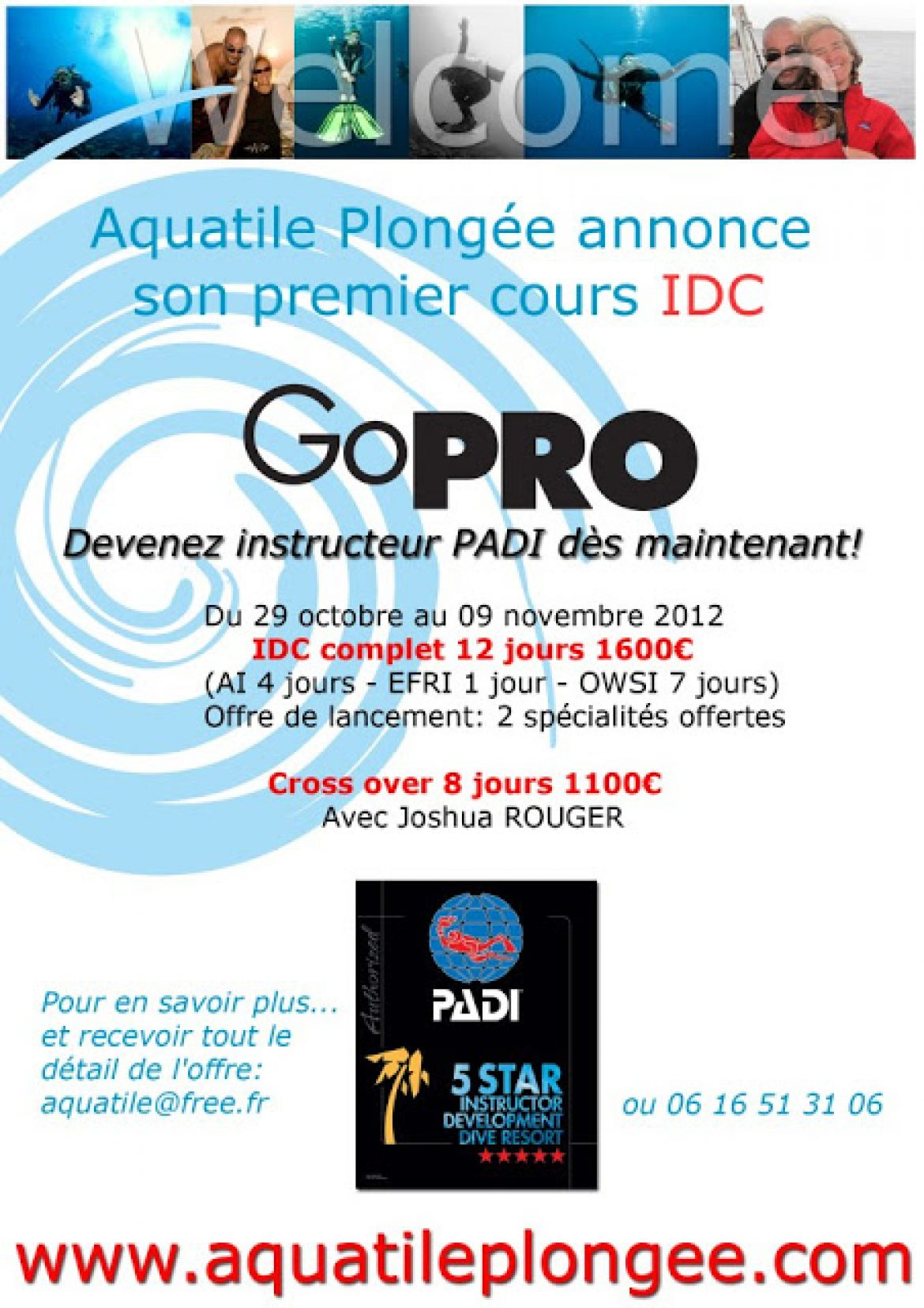 Devenir Instructeur PADI